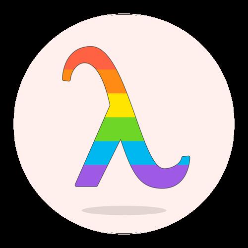 sign lambda lgbtq ,Logo , icon , SVG sign lambda lgbtq