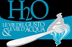 h20 le vie del gusto e le vie d'acqua Logo ,Logo , icon , SVG h20 le vie del gusto e le vie d'acqua Logo
