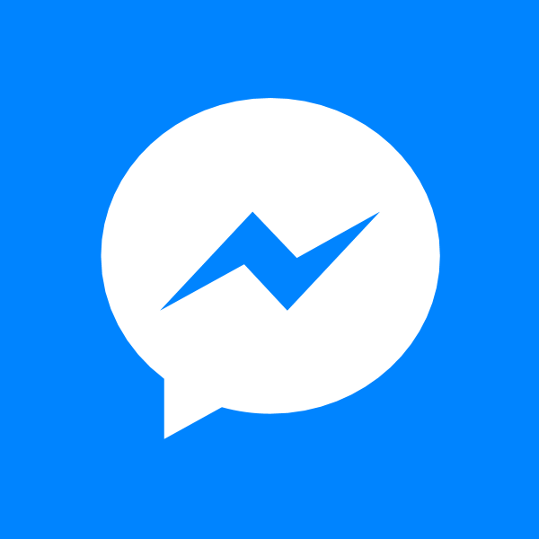 Facebook Messenger white ,Logo , icon , SVG Facebook Messenger white