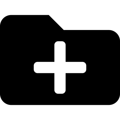 folder plus ,Logo , icon , SVG folder plus