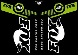 Fox 40 2011 – MTB Fork Decals Logo ,Logo , icon , SVG Fox 40 2011 – MTB Fork Decals Logo