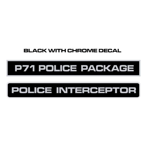 Police Interceptor Decals ,Logo , icon , SVG Police Interceptor Decals