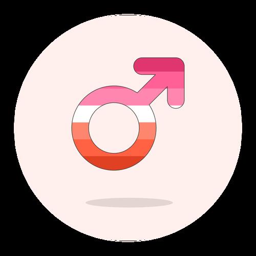sign male lesbian ,Logo , icon , SVG sign male lesbian