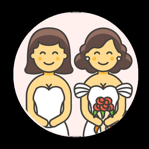 wedding lesbian gowns ,Logo , icon , SVG wedding lesbian gowns