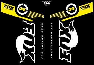 Fox 34 2011 – MTB Fork Decals Logo ,Logo , icon , SVG Fox 34 2011 – MTB Fork Decals Logo