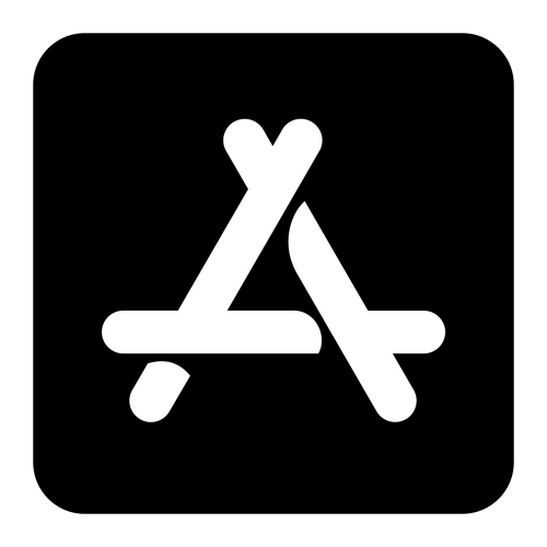 app store ios ,Logo , icon , SVG app store ios
