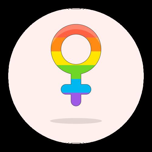 sign female lgbtq ,Logo , icon , SVG sign female lgbtq