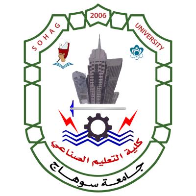 جامعة سوهاج ـ كلية التعليم الصناعي , مصر ,Logo , icon , SVG جامعة سوهاج ـ كلية التعليم الصناعي , مصر