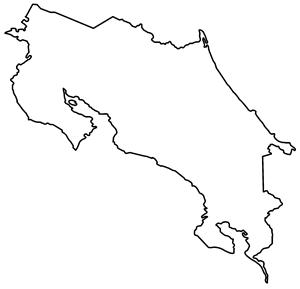 Costa Rica map outline Logo ,Logo , icon , SVG Costa Rica map outline Logo