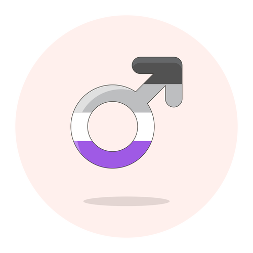 sign male asexual ,Logo , icon , SVG sign male asexual