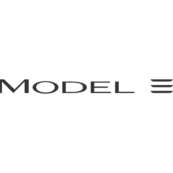 Tesla Model 3 ,Logo , icon , SVG Tesla Model 3