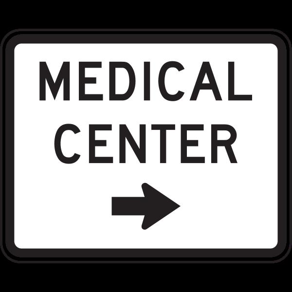 MEDICAL CENTER TRAFFIC SIGN Logo ,Logo , icon , SVG MEDICAL CENTER TRAFFIC SIGN Logo