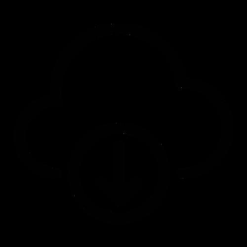 Cloud Download ,Logo , icon , SVG Cloud Download