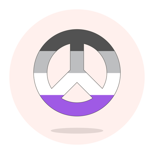 sign peace asexual ,Logo , icon , SVG sign peace asexual