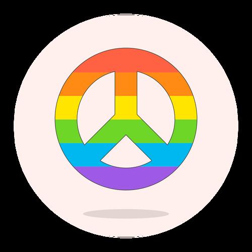 sign peace lgbtq ,Logo , icon , SVG sign peace lgbtq
