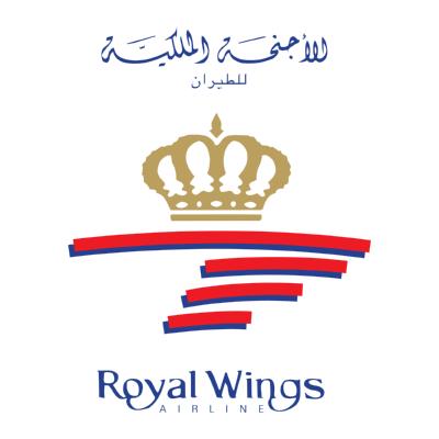 شعار الأجنحة الملكية للطيران Royal wings airline ,Logo , icon , SVG شعار الأجنحة الملكية للطيران Royal wings airline