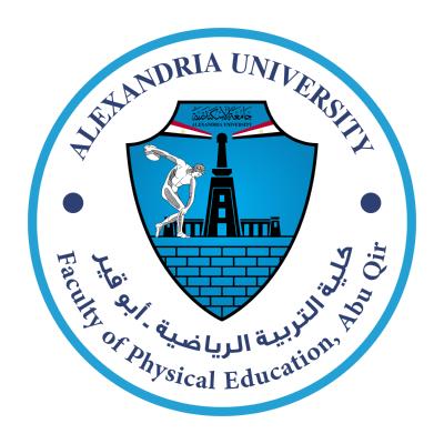 شعار جامعة الإسكندرية ـ كلية التربية الرياضية ـ أبوقير , مصر ,Logo , icon , SVG شعار جامعة الإسكندرية ـ كلية التربية الرياضية ـ أبوقير , مصر