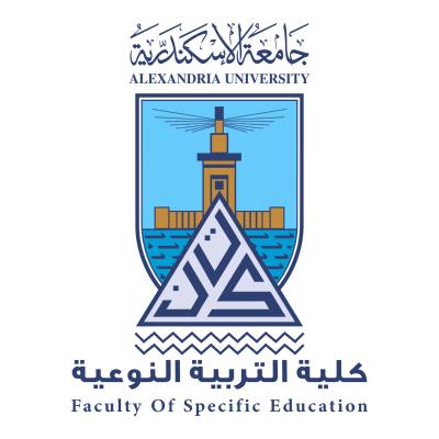 شعار جامعة الإسكندرية ـ كلية التربية النوعية , مصر ,Logo , icon , SVG شعار جامعة الإسكندرية ـ كلية التربية النوعية , مصر