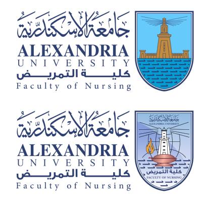 شعار جامعة الإسكندرية ـ كلية التمريض , مصر ,Logo , icon , SVG شعار جامعة الإسكندرية ـ كلية التمريض , مصر