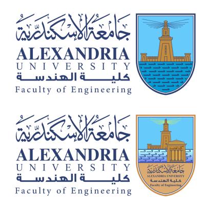شعار جامعة الإسكندرية ـ كلية الهندسة , مصر ,Logo , icon , SVG شعار جامعة الإسكندرية ـ كلية الهندسة , مصر