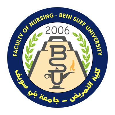 شعار جامعة بني سويف ـ كلية التمريض , مصر ,Logo , icon , SVG شعار جامعة بني سويف ـ كلية التمريض , مصر