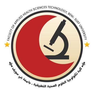 شعار جامعة بني سويف ـ كلية تكنولوجيا العلوم الصحية التطبيقية , مصر ,Logo , icon , SVG شعار جامعة بني سويف ـ كلية تكنولوجيا العلوم الصحية التطبيقية , مصر