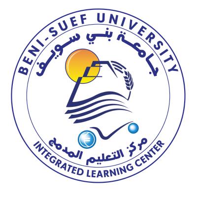 شعار جامعة بني سويف ـ مركز التعليم المدمج , مصر ,Logo , icon , SVG شعار جامعة بني سويف ـ مركز التعليم المدمج , مصر
