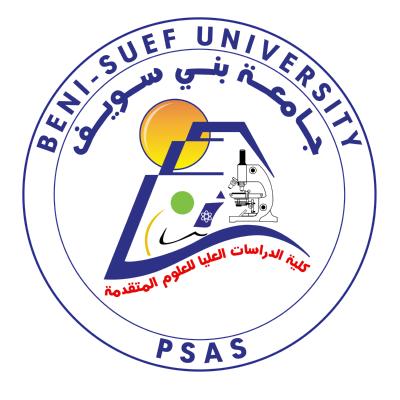 شعار جامعة بني سويف كلية الدراسات العليا للعلوم المتقدمة , مصر ,Logo , icon , SVG شعار جامعة بني سويف كلية الدراسات العليا للعلوم المتقدمة , مصر