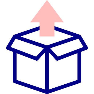 040 open box ,Logo , icon , SVG 040 open box