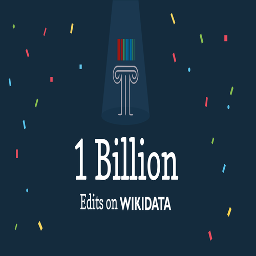 1 Billion Edits on WIKIDATA (WD-logo) ,Logo , icon , SVG 1 Billion Edits on WIKIDATA (WD-logo)