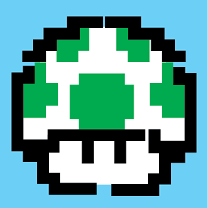 1-up mushroom Logo ,Logo , icon , SVG 1-up mushroom Logo