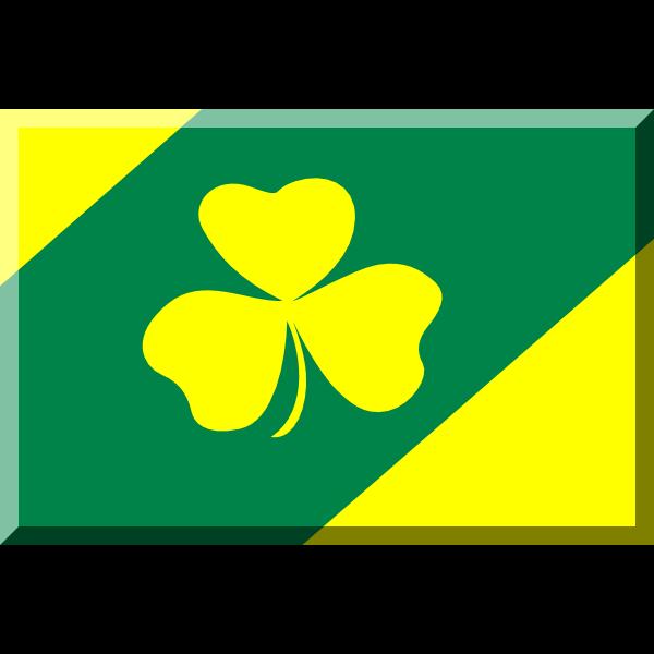 600px Verde e Giallo con trifoglio ,Logo , icon , SVG 600px Verde e Giallo con trifoglio