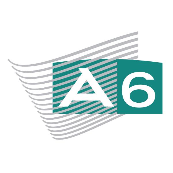 A6 ,Logo , icon , SVG A6