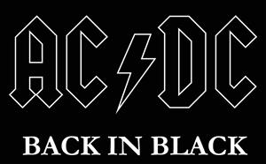 AC DC black Logo ,Logo , icon , SVG AC DC black Logo