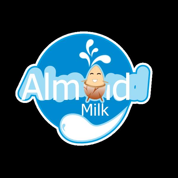 ALMOND MILK Logo ,Logo , icon , SVG ALMOND MILK Logo