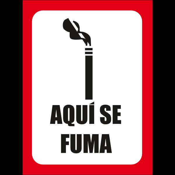 AQUI SE FUMA Logo ,Logo , icon , SVG AQUI SE FUMA Logo