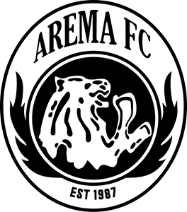 Arema Footbal Club Black White Logo ,Logo , icon , SVG Arema Footbal Club Black White Logo