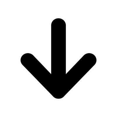 arrow round down ,Logo , icon , SVG arrow round down