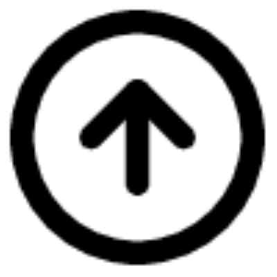 arrow up circle ,Logo , icon , SVG arrow up circle