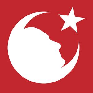 Atatürk Ay Yıldız Türk Bayrağı Logo ,Logo , icon , SVG Atatürk Ay Yıldız Türk Bayrağı Logo