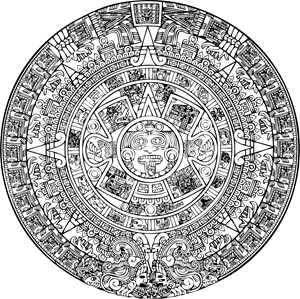 azteca calendario Logo ,Logo , icon , SVG azteca calendario Logo