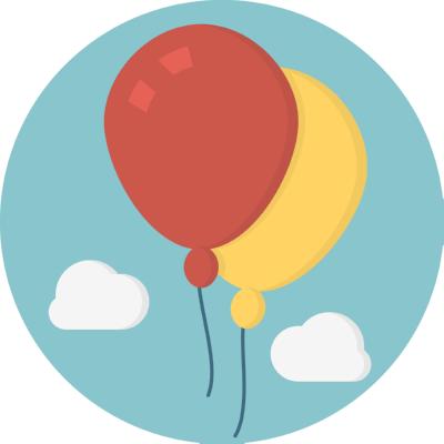 ballons ,Logo , icon , SVG ballons