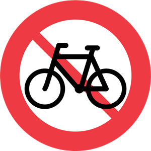 BICYCLE TRAFFIC FORBIDDEN Logo ,Logo , icon , SVG BICYCLE TRAFFIC FORBIDDEN Logo