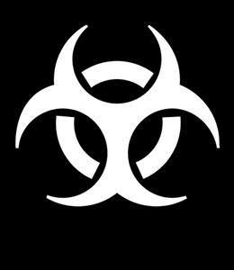 BIOHAZARD WARNING SIGN Logo ,Logo , icon , SVG BIOHAZARD WARNING SIGN Logo