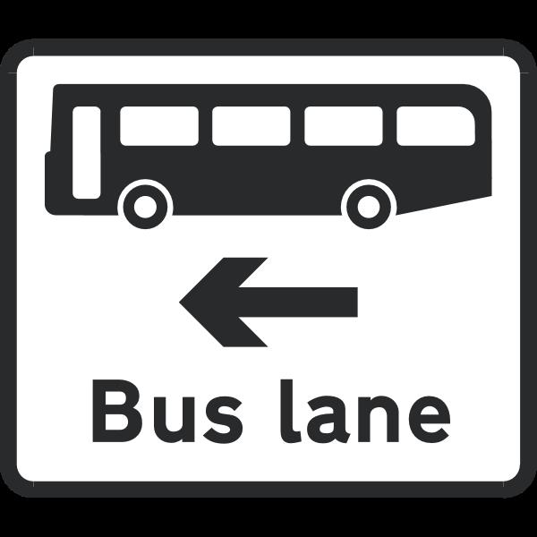 BUS LANE SIGN Logo ,Logo , icon , SVG BUS LANE SIGN Logo