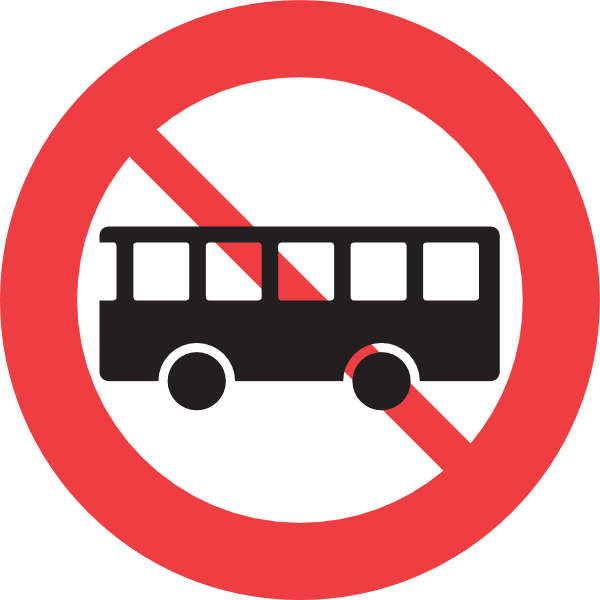 BUS TRAFFIC FORBIDDEN SIGN Logo ,Logo , icon , SVG BUS TRAFFIC FORBIDDEN SIGN Logo