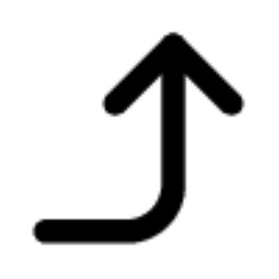 corner right up ,Logo , icon , SVG corner right up