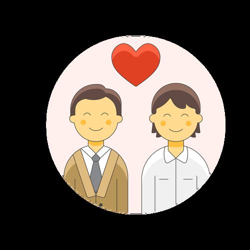 couple gay love ,Logo , icon , SVG couple gay love