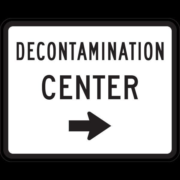 DECONTAMINATION CENTER SIGN Logo ,Logo , icon , SVG DECONTAMINATION CENTER SIGN Logo