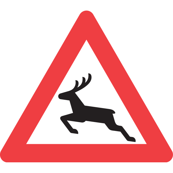 DEER CROSSING ROAD SIGN Logo ,Logo , icon , SVG DEER CROSSING ROAD SIGN Logo